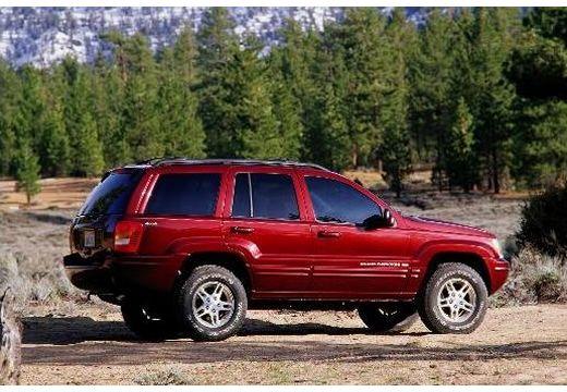 JEEP Grand Cherokee II kombi bordeaux (czerwony ciemny) tylny prawy