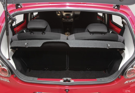 Toyota Aygo III hatchback przestrzeń załadunkowa