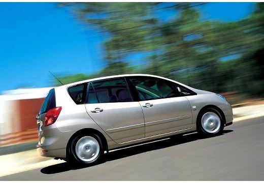 Toyota Corolla Verso I kombi mpv silver grey boczny prawy
