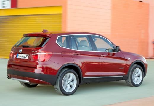 BMW X3 X 3 F25 I kombi czerwony jasny tylny prawy