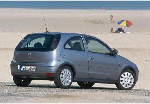 OPEL Corsa hatchback silver grey tylny prawy