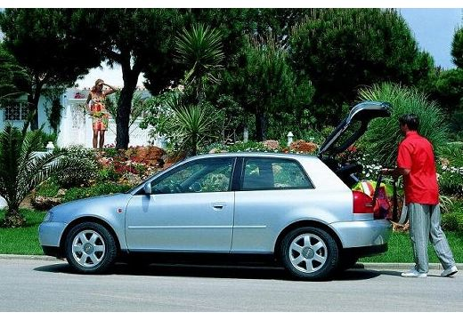AUDI A3 /S3 8L I hatchback silver grey boczny lewy