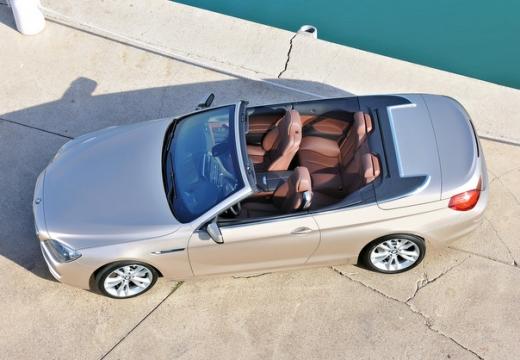 BMW Seria 6 Cabriolet F12 I kabriolet beige górny przedni