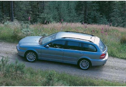JAGUAR X-Type Estate I kombi niebieski jasny boczny lewy