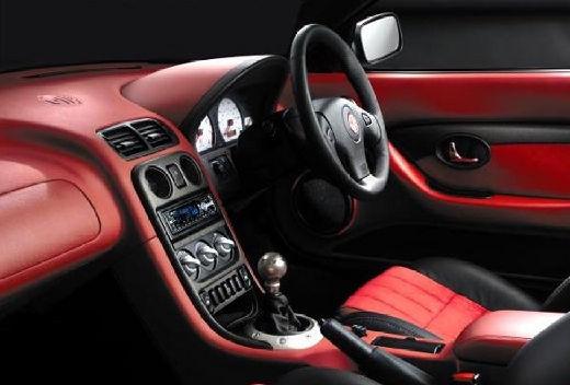 MG TF I roadster czerwony jasny tablica rozdzielcza