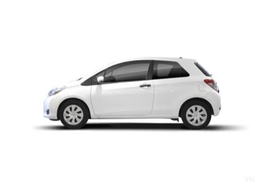Toyota Yaris V hatchback biały boczny lewy
