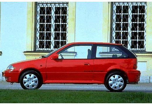 SUZUKI Swift II hatchback czerwony jasny boczny lewy