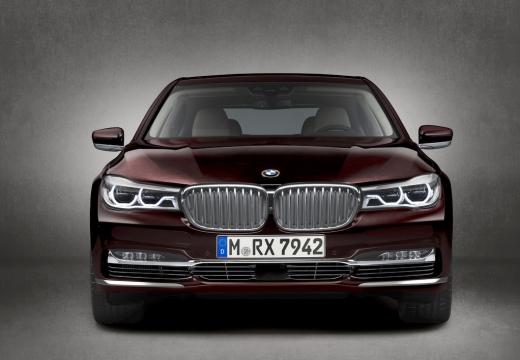 BMW Seria 7 sedan fioletowy przedni