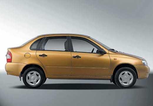 LADA Kalina sedan żółty boczny prawy