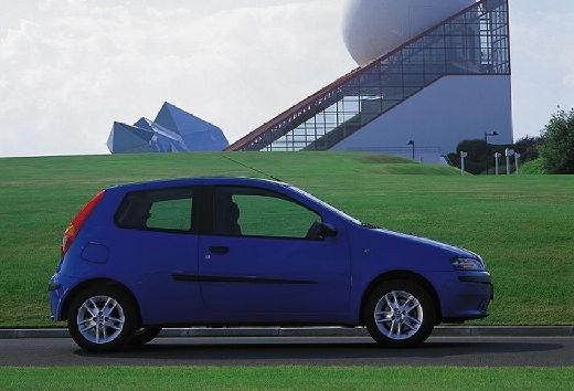 FIAT Punto II I hatchback niebieski jasny boczny prawy