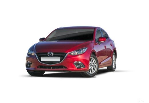 MAZDA 3 V hatchback czerwony jasny przedni lewy