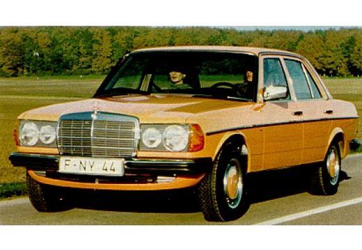 MERCEDES-BENZ 123 sedan żółty przedni lewy