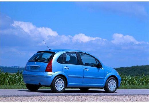CITROEN C3 I hatchback niebieski jasny tylny prawy
