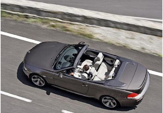 BMW Seria 6 Cabriolet E64 I kabriolet szary ciemny tylny lewy