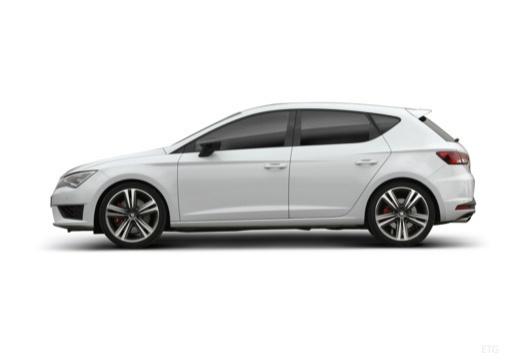 SEAT Leon IV hatchback biały boczny lewy