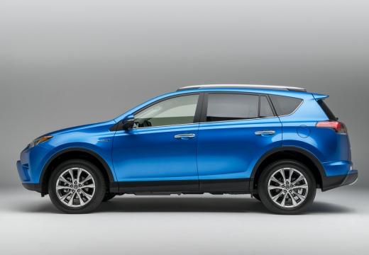 Toyota RAV4 kombi niebieski jasny boczny lewy