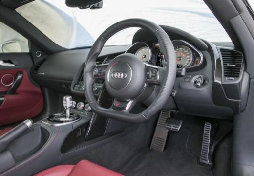 AUDI R8 roadster biały tablica rozdzielcza