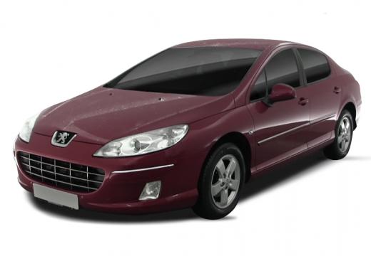 PEUGEOT 407 II sedan bordeaux (czerwony ciemny)