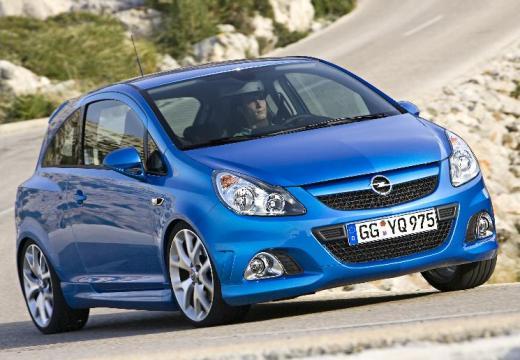 OPEL Corsa D I hatchback niebieski jasny przedni prawy