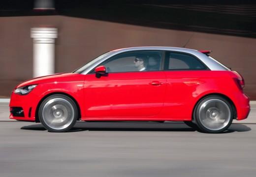 AUDI A1 I hatchback czerwony jasny boczny lewy
