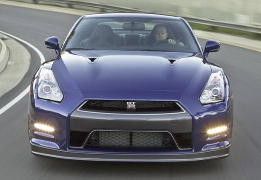 NISSAN GT-R coupe niebieski jasny przedni