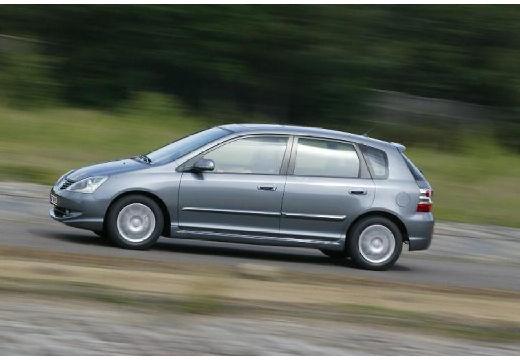 HONDA Civic V hatchback silver grey boczny lewy