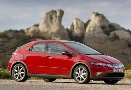 HONDA Civic VII hatchback czerwony jasny przedni prawy