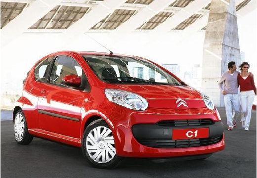CITROEN C1 hatchback czerwony jasny przedni prawy