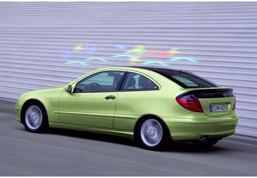 MERCEDES-BENZ Klasa C Sport CL203 I coupe zielony jasny tylny lewy