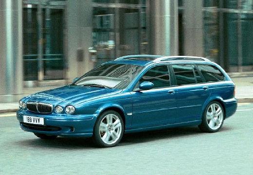 JAGUAR X-Type Estate I kombi niebieski jasny przedni lewy