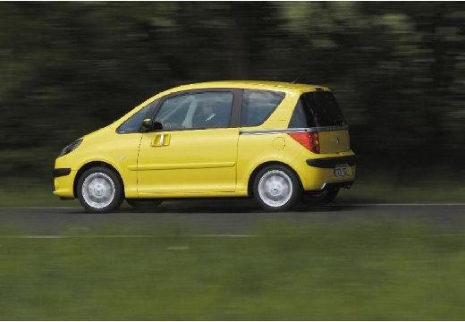 PEUGEOT 1007 hatchback żółty tylny lewy