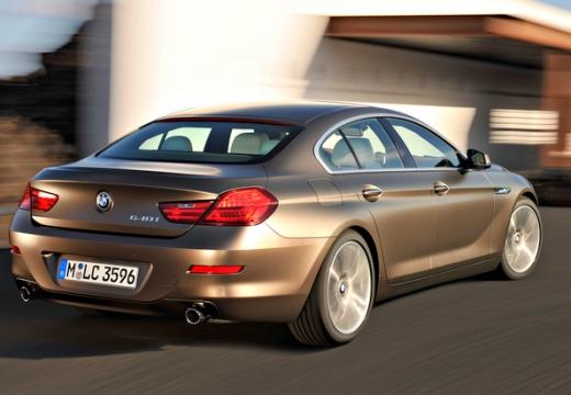 BMW Seria 6 Gran Coupe F06 I sedan silver grey tylny prawy