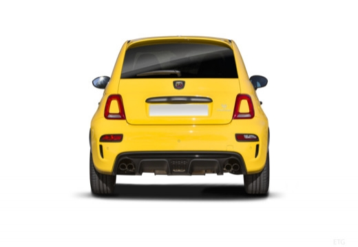 ABARTH 500 hatchback żółty tylny