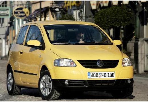 VOLKSWAGEN Fox hatchback żółty przedni prawy