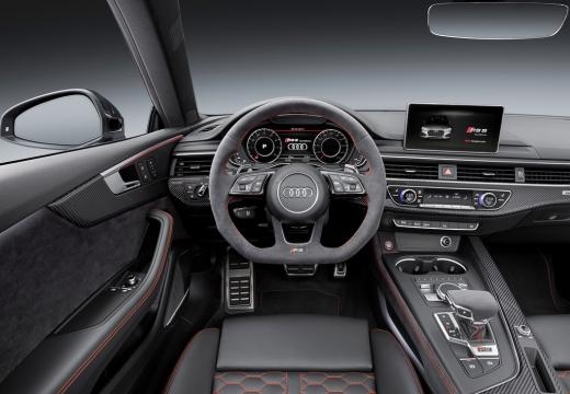 AUDI A5 III coupe czerwony jasny tablica rozdzielcza