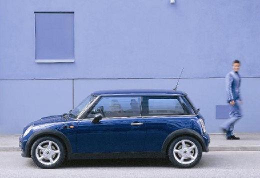 MINI [BMW] Cooper hatchback niebieski jasny boczny lewy