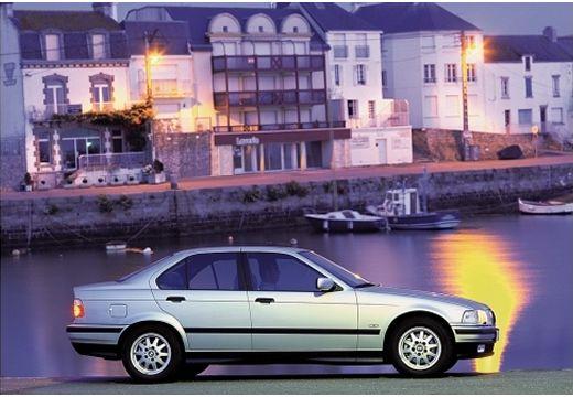 BMW Seria 3 E36 sedan silver grey boczny prawy