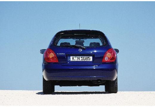 NISSAN Almera II II hatchback niebieski jasny tylny