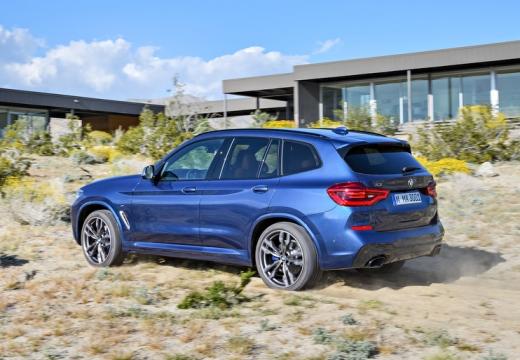 BMW X3 kombi niebieski jasny tylny lewy