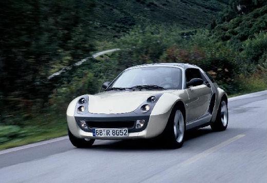 SMART roadster coupe silver grey przedni lewy