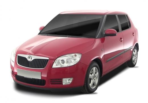 SKODA Fabia II I hatchback czerwony jasny