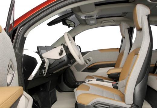 BMW i3 I01 I hatchback pomarańczowy wnętrze