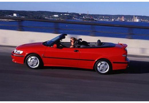 SAAB 9-3 Cabriolet I kabriolet czerwony jasny boczny lewy
