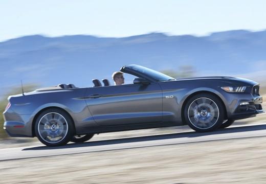 FORD Mustang kabriolet szary ciemny boczny prawy