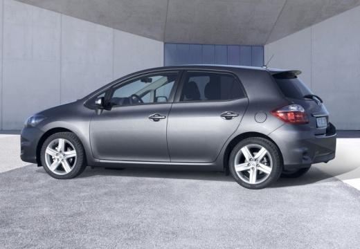 Toyota Auris hatchback niebieski jasny tylny lewy