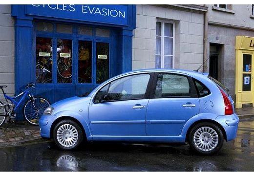 CITROEN C3 I hatchback niebieski jasny boczny lewy