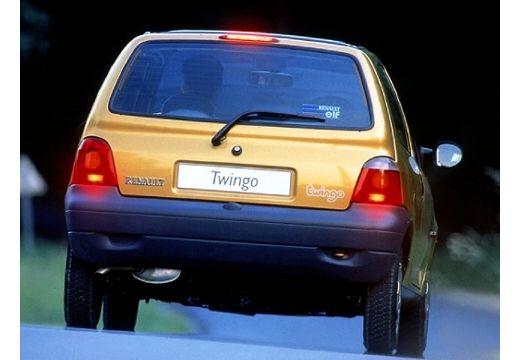 RENAULT Twingo I hatchback żółty tylny