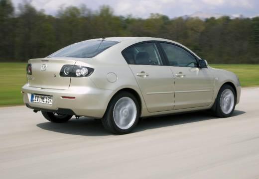 MAZDA 3 II sedan silver grey tylny prawy