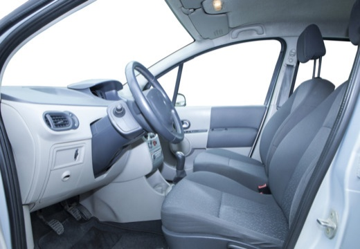 RENAULT Modus I hatchback niebieski jasny wnętrze