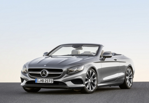 MERCEDES-BENZ Klasa S Coupe kabriolet silver grey przedni lewy